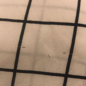Express Tops - Express Black + White Grid Loose Top